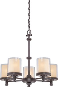 Nuvo 60/4545 Decker Sudbury Bronze Five Light Chandelier