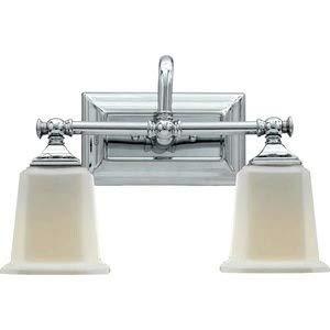 Quoizel NL8602C Nicholas Mid Century Bath Vanity Wall Lighting, 2-Light, 200 Watts, Polished Chrome (10