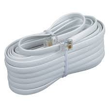 Permo 15 Feet White Telephone Extension Cord Cable Line Wire