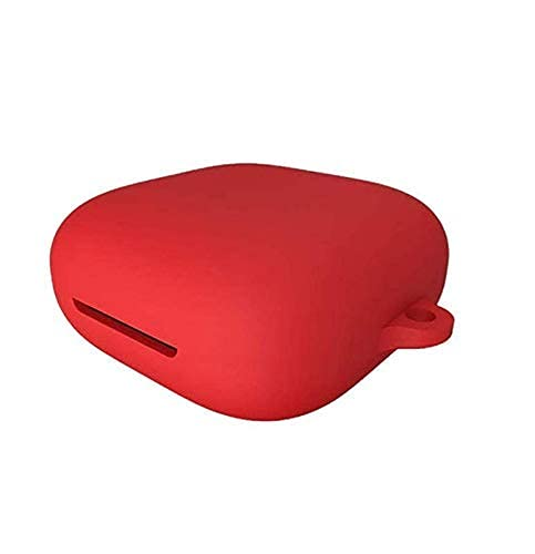 Guleel Oppo Enco W51 Earphone Dustproof Front and Back Silicone Earbuds Protective case Cover (Red)