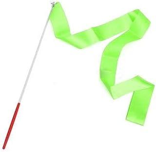 HATCHMATIC LumiParty 4M Enfants Art de Gymnastique Ruban Streamer Fouet Rod pour la Danse Gym Ballet Gymnastic: Vert