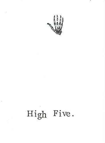 High Five Funny Science Humor Medical School Graduation Card | Geeky Nerdy Congratulations Skeleton - Specs Geeky