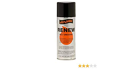 JET-LUBE 50941 12-Oz. Aerosol Renew Belt Dressing (Price is for 12 Can/Case)