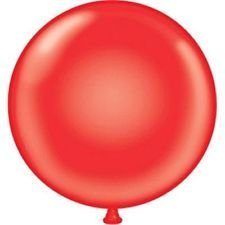 17'' Tuf Tex Party Style Red Round Latex Balloons 72 Bag by BalloonsFast.com (Image #1)