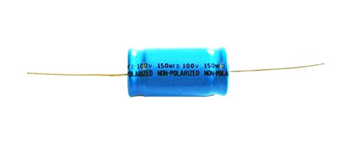 DNF 10 Pack 150 MFD Axial Electrolytic Non-Polar Capacitor 100 Volt