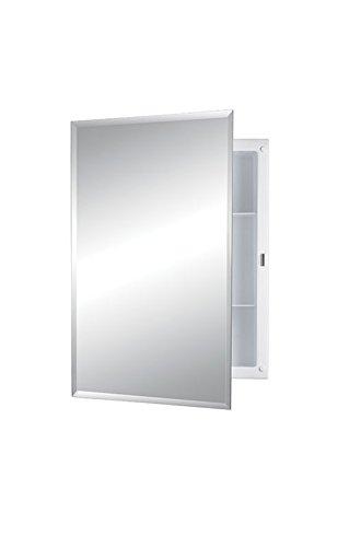 Jensen 868M22XWHZX Bevel Mirror Medicine Cabinet, 16