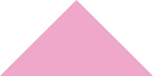 Carnation PInk Small Triangle Wall Pattern - Set of 93 - Pattern Vinyl Wall Art Decal for Homes, Offices, Kids Rooms, Nurseries, Schools, High Schools, Colleges, Universities by Dana Decals (Image #1)