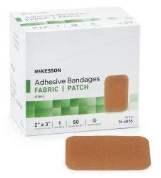 Adhesive Strip, McKesson, 2 X 3 Inch Fabric Rectangle Tan Sterile, 16-4816 - Case of 1200 by Ensur