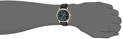 Kenneth Cole New York Men's Dress Sport Stainless Steel Japanese-Quartz Watch with Leather Strap, Green, 19.5 (Model: KC50913002)