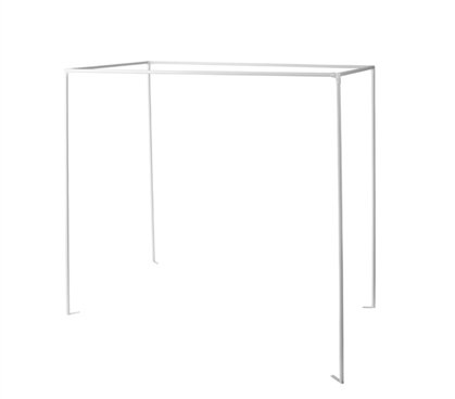 Don't Look At Me - Sleep Privacy Bed Rack - White Frame with Black Fabric