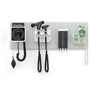 Welch Allyn 77797-2PX Wall Board, Wall Transformer, Panoptic Ophthalmoscopes, Pneumatic Otoscope, KleenSpec Dispenser, Wall Aneroid and SureTemp Plus Thermometer (Ophthalmoscope Pneumatic Otoscope)
