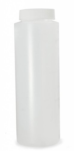 Qorpak 501070 HDPE Wide Mouth Cylinder Bottle with 38-400 White PP SturdeeSeal PE Foam Caps Attached, 16 oz, Natural (Pack of 198)