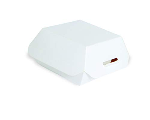 """White Cardboard Mini-Slider Box (Case of 500), PacknWood - To Go Lunch Sandwich Containers (3.5"""" x 3.5"""" x 2"""") 210EATBURG80"""