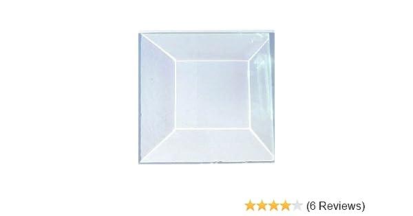 3x6 Rectangle Premium 1//2 Beveled Glass Set of 30