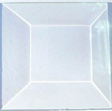 (1.5 X 1.5 Inch Square Clear Stained Glass Bevels Box of 30)