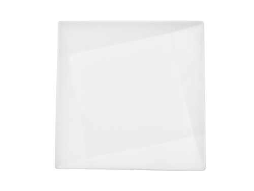 CAC China QZT-207 Crystal 7-1/2-Inch Super White Porcelain Square Plate, Box of 24 by CAC China