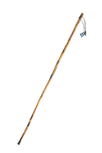 SE WS628-55GB Wooden Walking/Hiking Stick with Hand-Carved Grizzly Bear Design, 55""