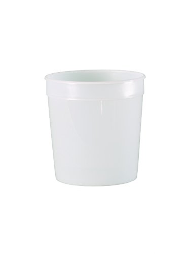E-Z Mix HD32 1 Quart Plain Clear Cup (HDPE No Graphics), 100 Pack