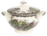 China Covered Sugar Bowl (Johnson Brothers Friendly Village Covered Sugar)