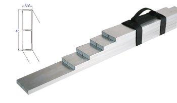 Bon 24-125 1-Foot 6-Inch, 2-Foot, 2-Foot 6-Inch, 3-Foot, 4-Foot, 6-Foot Aluminum Tile Screed Set