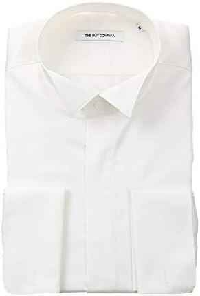 (ザ・スーツカンパニー) FORMAL/ダブルカフス&ウイングカラードレスシャツ 無地 〔FIT〕 ホワイト