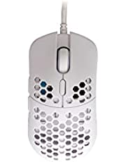 HK Gaming Mira M Ultra Lightweight Honeycomb Shell Wired Gaming Mouse - 6 Buttons - 63 g (12 000 cpi, White)