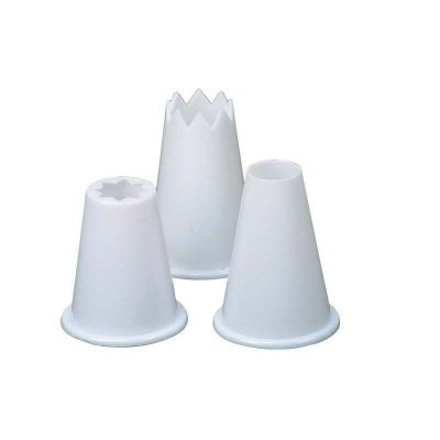 Dexam Food piping nozzles, Plastic, Set of 3 Rushbrookes 17841249 Icing Sets icing piping
