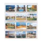 Marketing Holders Wall Mount 12 Pocket Post Card Display System Postcard