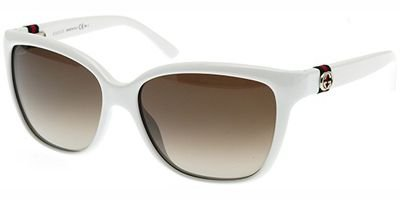 Gucci Sunglasses - 3645 / Frame: White Lens: Brown - Mens Sunglasses Gucci White