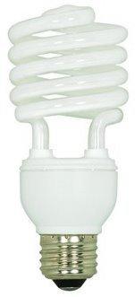 12 Pack Satco S7227 23 Watt T2 Mini Spiral 2700K Soft White Compact Fluorescent Light Bulb (100 Watt Replacement) ()