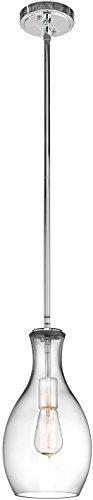 Kichler 42456CHCLR Everly Pendant 1-Light, Chrome