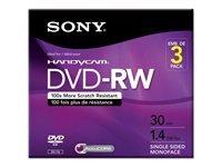 Sony 3DMW30R2HC - 3 x DVD-RW (8cm) - 1.4 GB ( 30min ) 1x - 2x by Generic