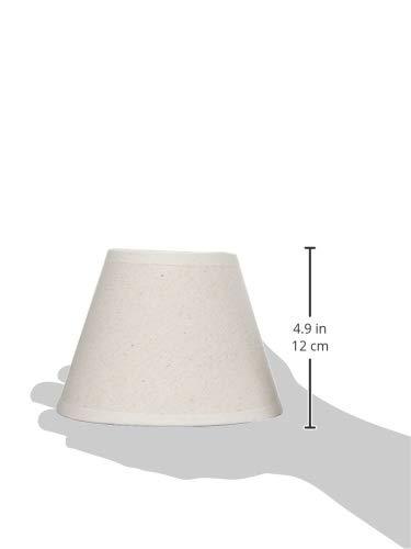Color Crema de 16 cm Redonda Better /& Best 16 Retor Pantalla de l/ámpara de Lino
