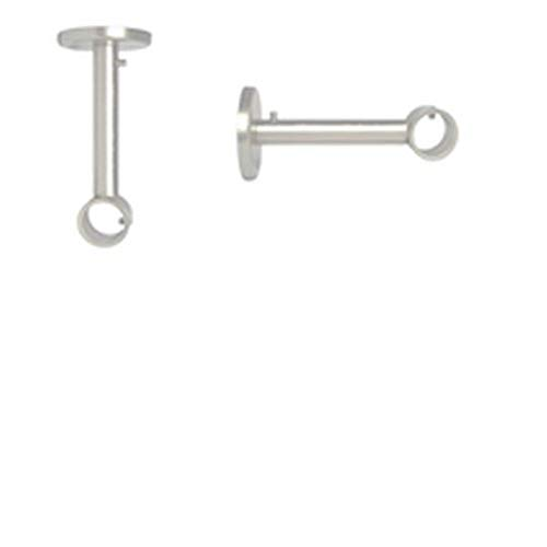 1 Lot de 2 Supports de tringles /Ø 19 mm Couleurs Satin Nickel, Support Mural ou Suspendre au Plafond pour Barre de Rideaux
