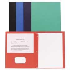 - 2-Pocket Folders, w/Fasteners, 1/2