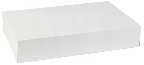 MT Products - Caja de papel de estraza de 1 pieza, 30,5 cm de largo x 22,8 cm de ancho x 8,3 cm de alto, color blanco