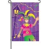 Premier Kites 52529 House Brilliance Flag, Mardi Gras Time, 28 by 40-Inch ()