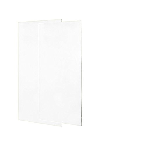 SS0367202.010 Solid Surface Glue-Up 2-pieces Shower Wall Panel, 0.25-in L X 36-in H X 72-in H, White
