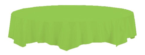 Creative Converting Touch of Color Octy-Round Paper Table Cover, 82-Inch, Fresh Lime ()