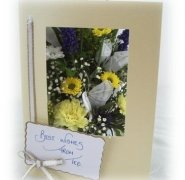 Flowers Delivered - Fresh Flowers Post - With Fabric Butterfly - Direct from our Guernsey Glasshouse - Fresh Flowers expertly arranged by hand and set in Oasis with water -Fits through any standard Letterbox - Birthday Gift - Thank You Gift Guernsey Fresh