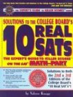 Solutions to the College Board - 10 Real Sats, Valerie Knaap, 1561719447