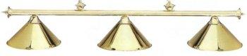 57 Inch Classic 3 Shade Billiard Light (Brass Shade / Brass ()