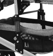 Lorelli Kinderwagen Alba 2 in 1 Sportsitz Babywanne Gummireifen einstellbar Farben:grau