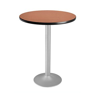 Round Flip-Top Cafe Table Silver Base - 30