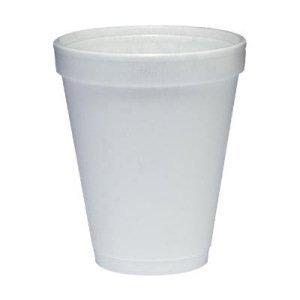 Dart 10J10 Foam Drink Cups, 10oz, White, 25 Per Bag (Case of 40 Bags) ()