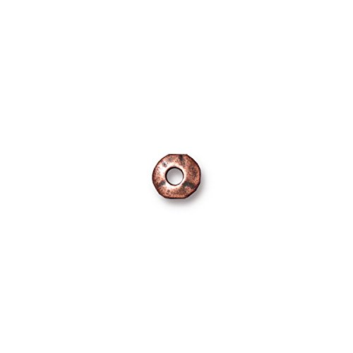 - TierraCast Nugget Heishi, 7mm/2mm, Antiqued Copper Plate Pewter