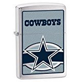 Zippo NFL Cowboys Lighter (Silver, 5 1/2 x 3 1/2 cm) ()
