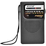 Portable Pocket Size AM/FM Pocket Radio with Built-in Speaker - by Home-X
