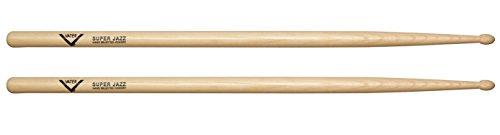 Vater VHSJW Super Jazz Wood Tip Hickory Drum Sticks, Pair