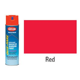 (Krylon Industrial Quik-Mark Wb Inverted Marking Paint Fluorescent Red - Lot of)